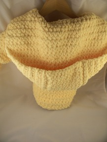 Yellow Crochet Hood Child Robe