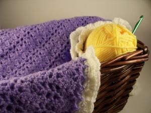 Purple Crochet Baby Blanket