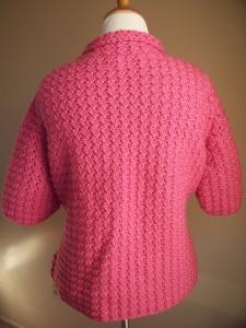 Pink Crochet Women's Jacket Blazer