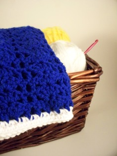 Royal Blue Crochet Baby Blanket