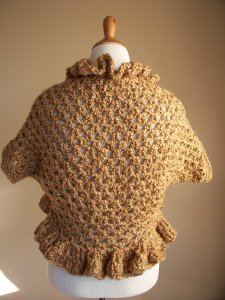 Bronze Brown Crochet Shrug