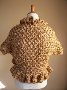 Bronze Brown Crochet Shrug