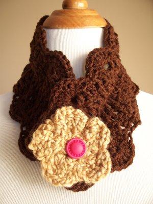 Brown Crochet Neckwarmer