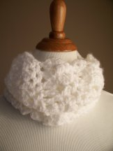 White Crochet Cowl