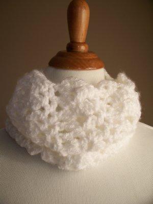 White Crochet Cowl