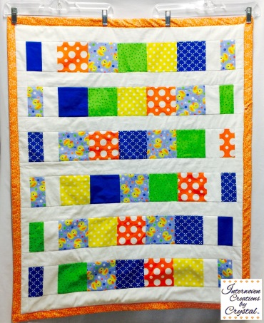 Rubber Duckie Baby Quilt & Pillow Set ~ Front of Quilt