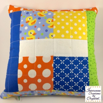 Rubber Duckie Baby Quilt & Pillow Set ~ Front of Pillow