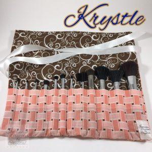 Krystle Makeup Brush Roll: 13 1/2 x 12
