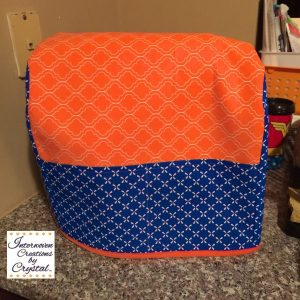 Orange and Blue Kitchen Aid Mixer Cover