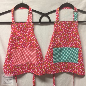 Pink Polka Dot Child Aprons