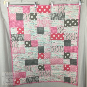 Baby Girl Quilt & Pillow Set ~ Front of Quilt