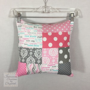 Baby Girl Quilt & Pillow Set ~ Front of Pillow