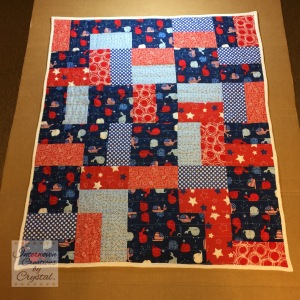 Patriotic Baby Quilt and Pillow Set ~ Front of Quilt