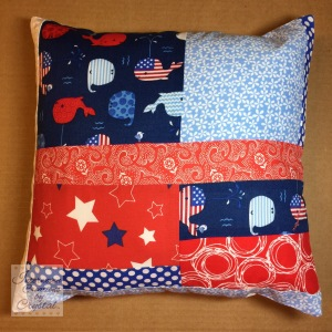 Patriotic Baby Quilt and Pillow Set ~ Front of Pillow