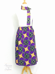 Purple and Yellow Paisley Skirt & Scarf