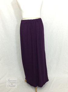 Purple Knit Maxi Skirt