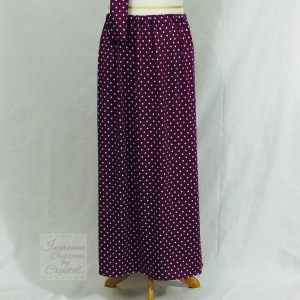 Purple and White Knit Maxi Skirt