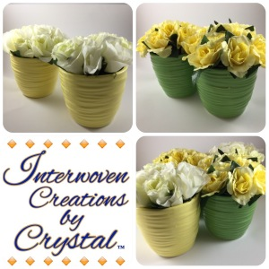 Four Floral Vases