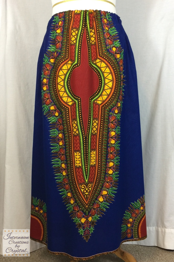Blue Oasis Maxi Skirt ~ Front