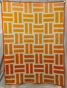 Tangerine Tones Quilt ~ 2019