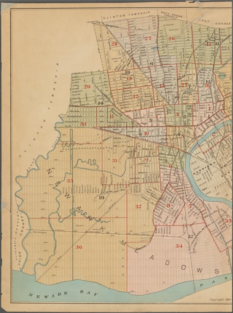 Newark, NJ Map ~ 1889