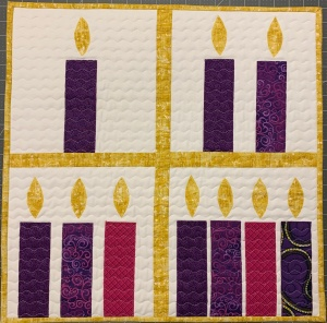 Advent Candle Quilt ~ 2019