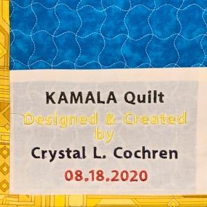 KAMALA Quilt ~ Label